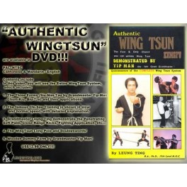 Authentic Wing Tsun Kung Fu by Leung Ting DVD(English)