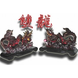 Double Flying Dragons on stand