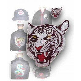 Patch-White tiger (front view)