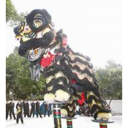 Chinese Lion Dance complete set  Black size 3