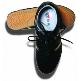 Lite weight leather Martial arts shoe with lace Blk