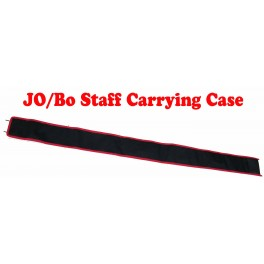 """84"""" Bo staff carrying case black with red trim"""